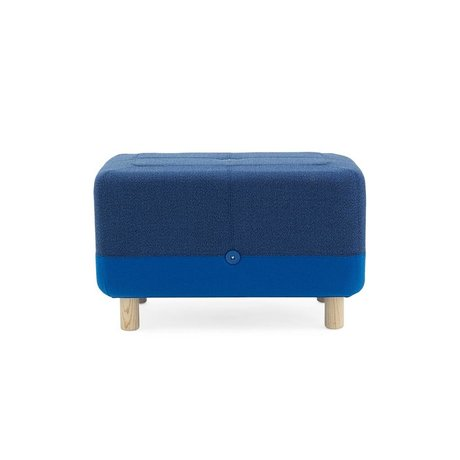 Normann Copenhagen Pouf Sumo blue fabric wood 65x45x40cm