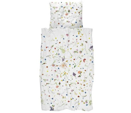 Snurk Beddengoed Pillow Flower Fields flerfarvet bomuld 60x70cm