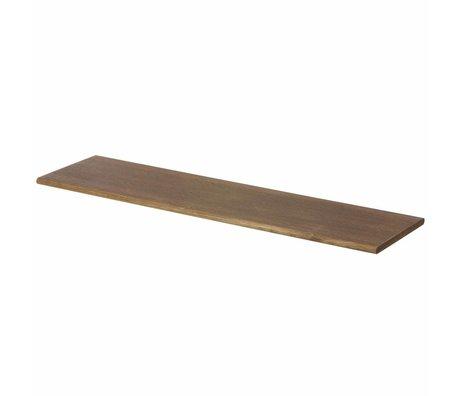 Ferm Living Estantería de pared de color marrón con gancho negro 85x24.5x24.5cm