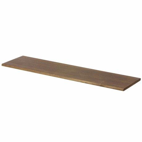 Ferm Living Wandregal braun mit schwarzen Haken 85x24.5x24.5cm