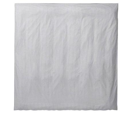 Ferm Living Duvet Silence 200x200cm coton organique gris clair