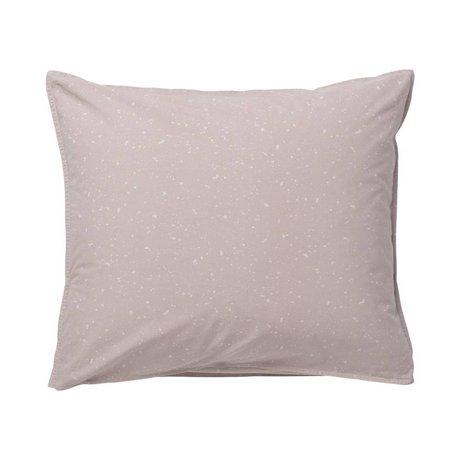 Ferm Living Almohada de Hush Milkyway rosado oscuro 60x50cm algodón orgánico
