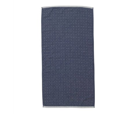 Ferm Living Sento asciugamano 50x100cm blu cotone biologico
