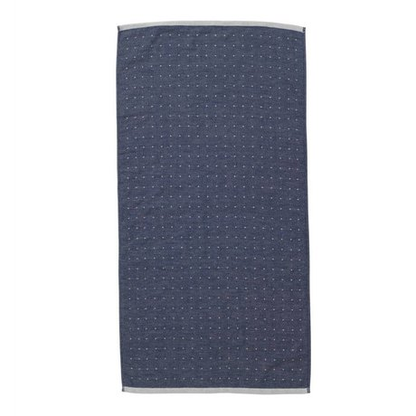 Ferm Living Sento havlu 50x100cm mavi organik pamuk