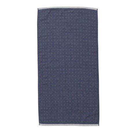 Ferm Living Sento serviette 50x100cm bleu de coton organique