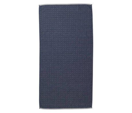 Ferm Living Sento havlu 70x140cm mavi organik pamuk