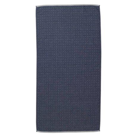 Ferm Living Sento towel blue organic cotton 70x140cm