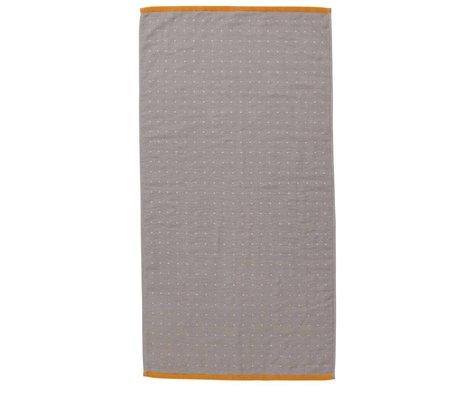 Ferm Living asciugamano Sento grigio 50x100cm cotone biologico