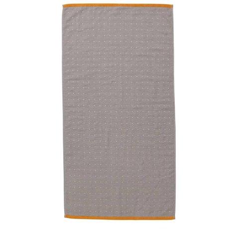 Ferm Living Sento toalla gris 50x100cm algodón orgánico