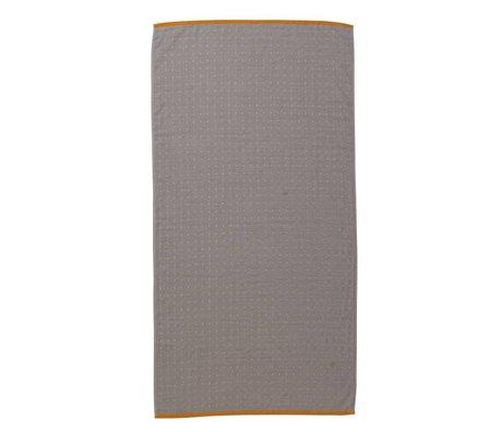 Ferm Living asciugamano Sento grigio 70x140cm cotone biologico
