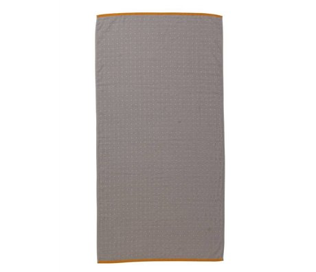 Ferm Living Sento toalla gris 70x140cm algodón orgánico
