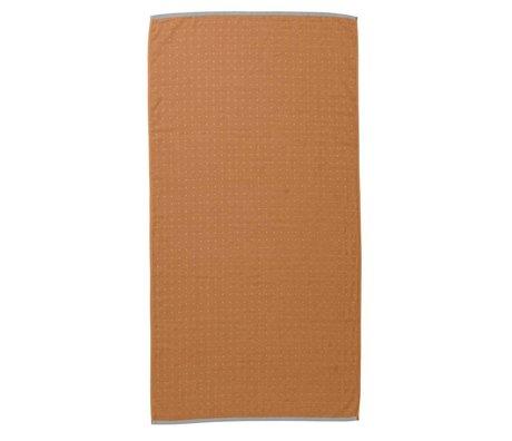 Ferm Living coton organique moutarde sèche-serviettes Sento jaune 70x140cm