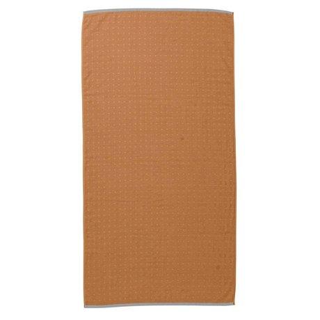 Ferm Living Toalla Sento amarillo mostaza 70x140cm algodón orgánico