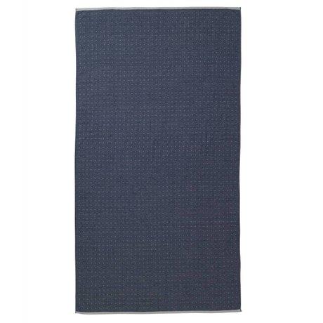 Ferm Living Håndklæde Sento blå økologisk bomuld 100x180cm
