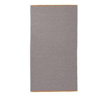 Ferm Living Toalla Sento gris 100x180cm algodón orgánico