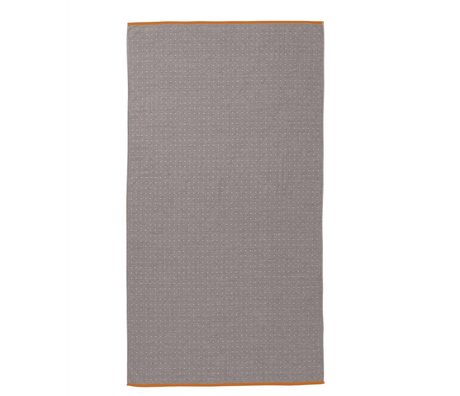 Ferm Living Towel Sento gray organic cotton 100x180cm