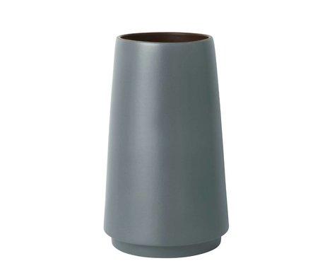 Ferm Living Bodenvase Çift gri taş S Ø19x31cm