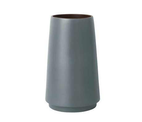 Ferm Living Bodenvase Dual grau Steinzeug S Ø19x31cm