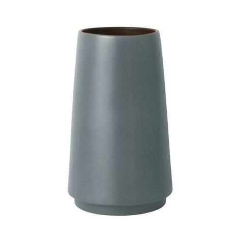 Ferm Living Bodenvase Dual grå stentøj S Ø19x31cm