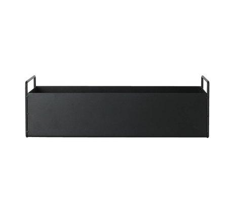 Ferm Living Kutu tesisi siyah metal S 45x14,5x17cm