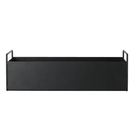 Ferm Living Box pflanze schwarz Metall S 45x14,5x17cm
