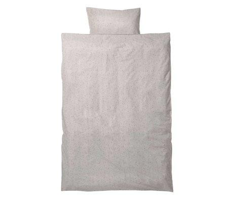 Ferm Living Literie Chut MilkyWay junior Set crème coton bio 110x140cm incl taie 46x40cm