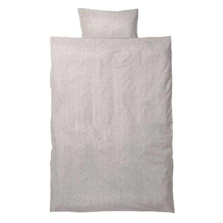 Ferm Living Bedding Hush junior milkyway Set creme økologisk bomuld 110x140cm inkl pudebetræk 46x40cm