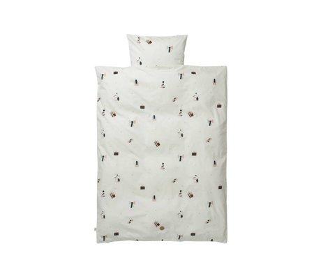 Ferm Living Baby bedding party set white organic cotton 70x100cm incl pillow cover 46x40cm