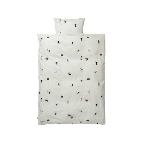Ferm Living Bambino Partito Federa bianco 70x100cm cotone organico compreso federa 46x40cm