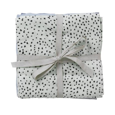 Ferm Living Hydrophilic Muslin Dot Set of 3 dot mint organic cotton 70x70cm
