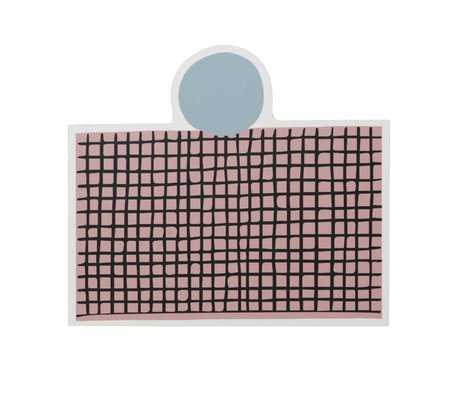 Ferm Living Place mat Party pink MDF cork 40x35cm