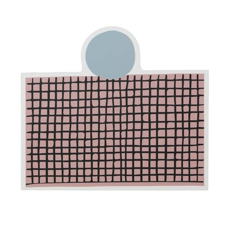 Ferm Living Dækkeserviet party pink MDF kork 40x35cm