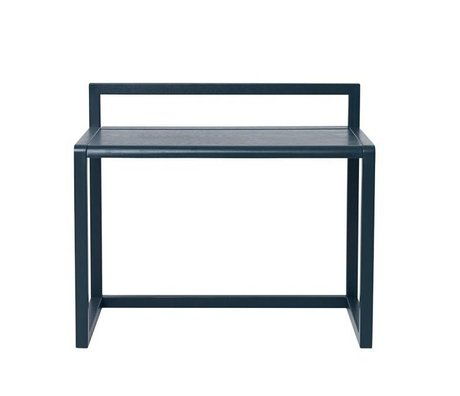 Ferm Living Desk Little Architect dark blue Eschenfurnier 70x45x60cm
