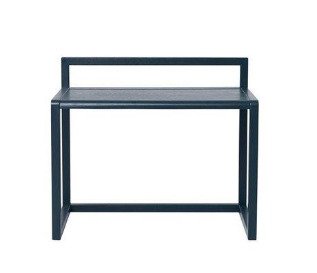 Ferm Living Petit bureau Architecte placage de frêne bleu foncé 70x45x60cm