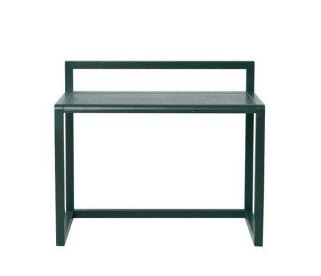 Ferm Living Desk Lille Arkitekt mørkegrøn aske finér 70x45x60cm