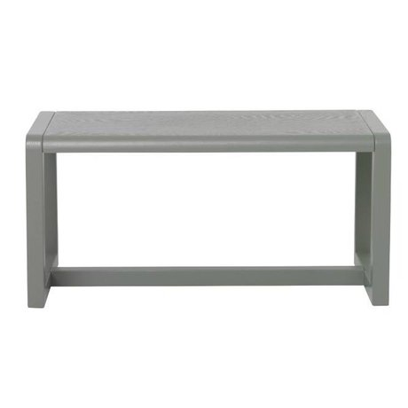 Ferm Living Bank Little Architect grau Eschenfurnierench 62x30x30cm