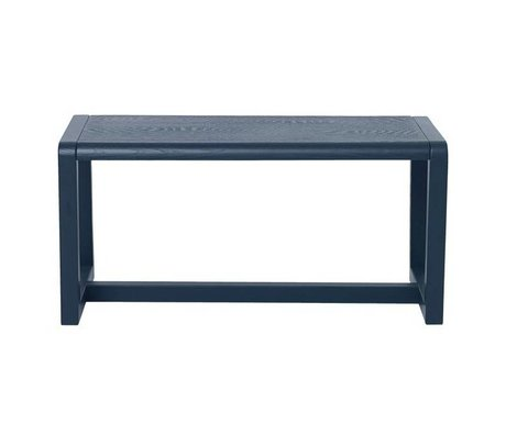 Ferm Living Banco Poco Arquitecto ceniza azul oscuro chapa 62x30x30cm