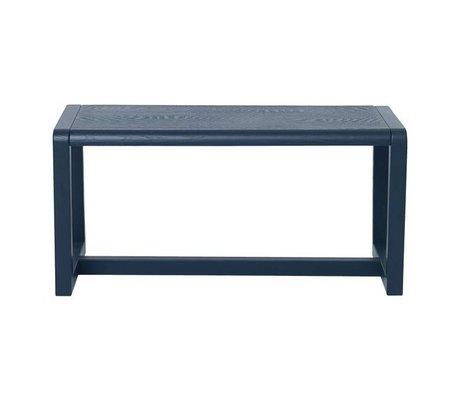 Ferm Living Bench kleine Architekt dunkelblau Holz 62x30x30cm