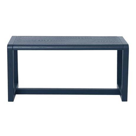 Ferm Living Bench Little Architect dark blue wood 62x30x30cm