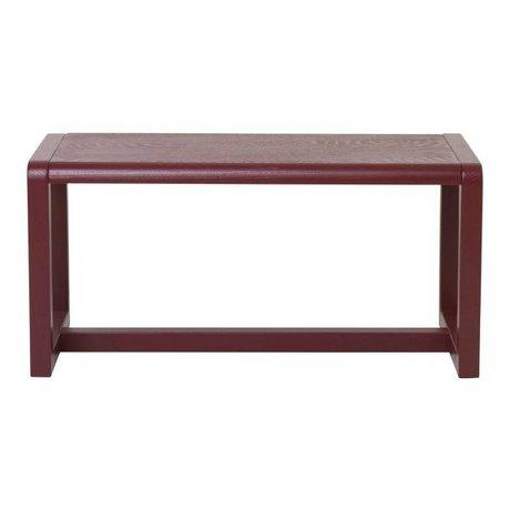 Ferm Living Bench Little Architect burgundy wood 62x30x30cm