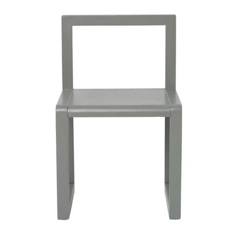 Ferm Living Stuhl Little Architect grau Eschenfurnier 32x51x30cm