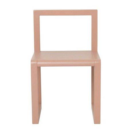 Ferm Living Sandalye Küçük Mimar pembe kül kaplama 32x51x30cm