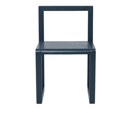 Ferm Living Stol Lille Arkitekt mørkeblå aske finér 32x51x30cm