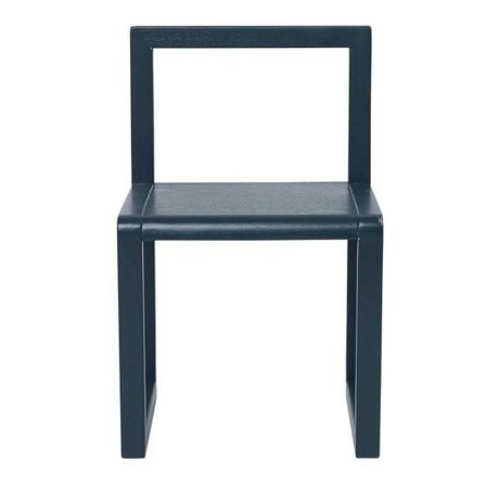 Ferm Living Sandalye Küçük Mimar lacivert kül kaplama 32x51x30cm
