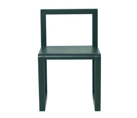 Ferm Living Poco silla Arquitecto de ceniza de color verde oscuro chapa 32x51x30cm