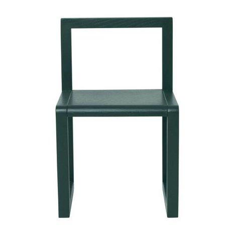 Ferm Living Stol Lille Arkitekt mørkegrøn aske finér 32x51x30cm