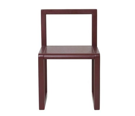 Ferm Living Stuhl Little Architect Bordeaux Eschenfurnier 32x51x30cm