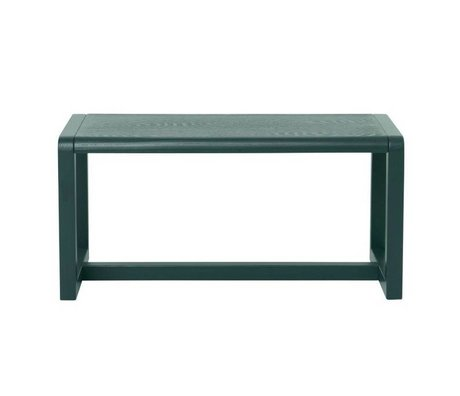 Ferm Living Bench Little Architect dark green ash veneer 62x30x30cm