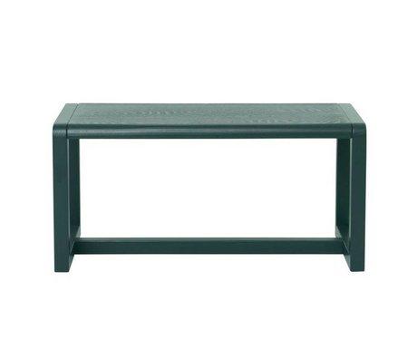Ferm Living Bench Little Architect dark green ash veneer 62x30x30cm
