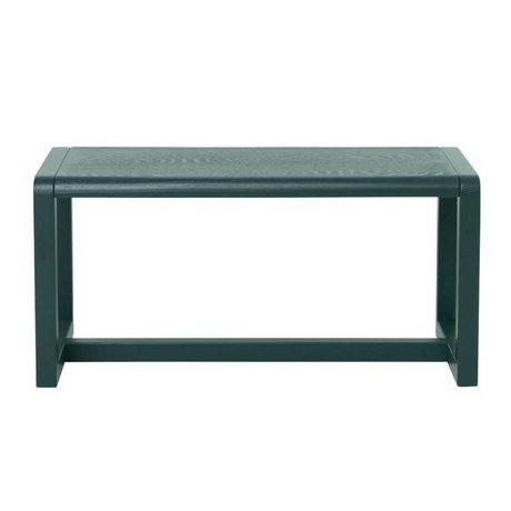 Ferm Living Bench kleine Architekt dunkelgrün 62x30x30cm